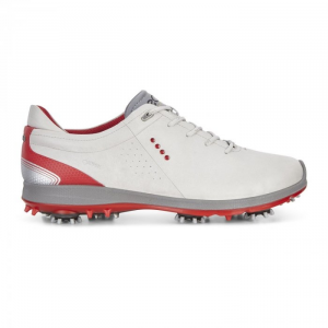 ECCO MEN GOLF BIOM G2 CONCRETE/SCARLET