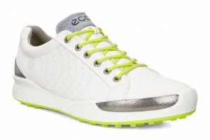 ECCO MEN GOLF BIOM HYBRID WHITE/LIME PUNCH