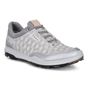 ECCO MEN GOLF BIOM  HYBRID 3 WHITE/SILVER METAL.