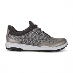 ECCO MEN GOLF BIOM  HYBRID 3 BLACK/BUFFED SILVER
